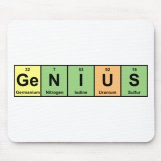 Genio - tabla periódica de productos de los elemen alfombrilla de raton