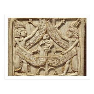 Genios cons alas, período asirio, c.750 A.C. (marf Tarjeta Postal