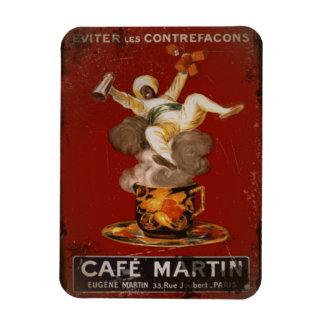 Genios de Martin del café Imán De Vinilo