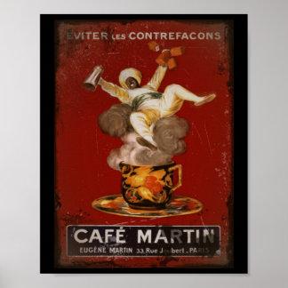 Genios de Martin del café Posters