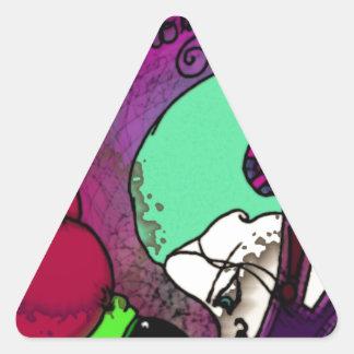 Geniside Pegatinas Triangulo