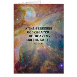 Genisis 1:1 card