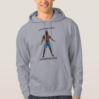 Genitals Dance Hooded Sweatshirt
