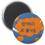 Genius at Work 2 Inch Round Magnet