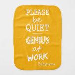 Genius at Work custom color burp cloth