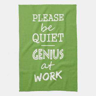 Genius at Work custom color hand towel