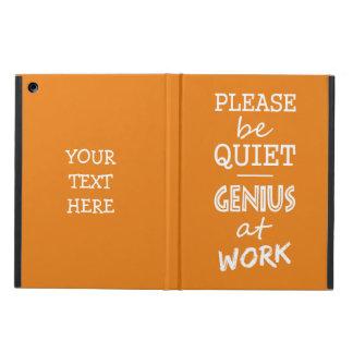 Genius at Work custom monogram & color cases iPad Air Case