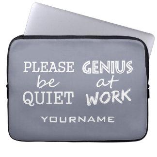 Genius at Work custom monogram laptop sleeves