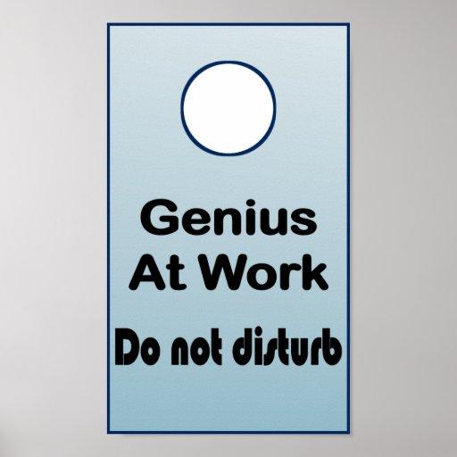 Do Not Disturb Genius at Work Sign