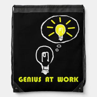 Genius at work drawstring bag