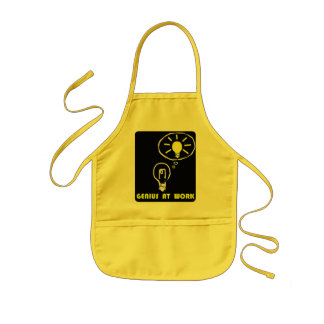 Genius at work kids' apron
