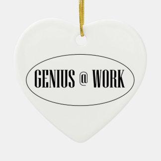 Genius At Work Logo Ceramic Ornament