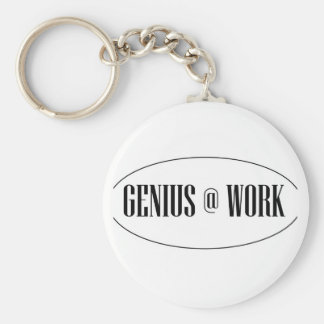 Genius At Work Logo Keychain