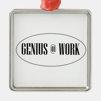 Genius At Work Logo Metal Ornament