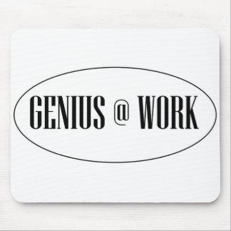 Genius At Work Logo Mouse Pad