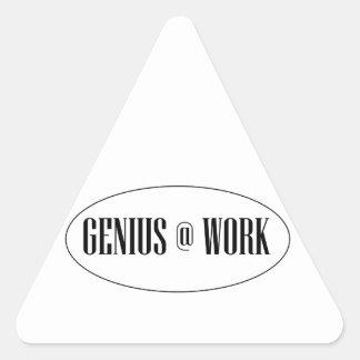 Genius At Work Logo Triangle Sticker