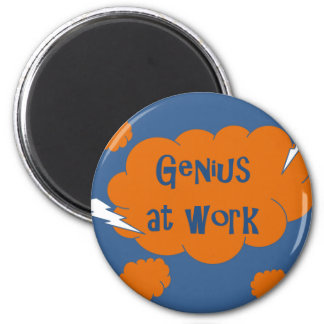 Genius at Work Magnet