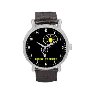 Genius at work wrist watch