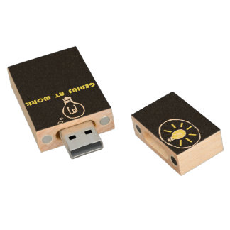 Genius at work wood flash drive