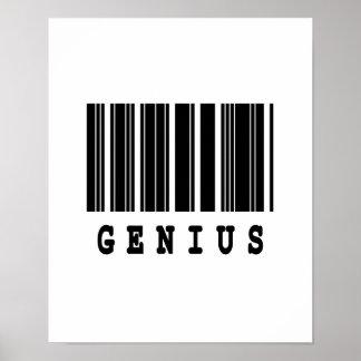 genius barcode design poster