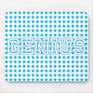 """""""Genius"""" Blue Customized Gifts Mouse Pad"""