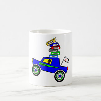 Genius Boy Driving Car Classic White Coffee Mug