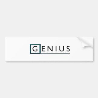 Genius Bumper Sticker