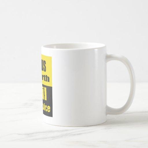 Genius by birth, evil by choice classic white coffee mug