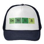 Genius Cap. Periodic table of elements. Gorros Bordados