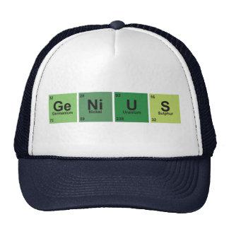 Genius Cap. Periodic table of elements. Gorro