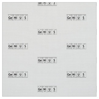Elements spelling words periodic table gifts on zazzle genius chemistry periodic table words elements fabric urtaz Image collections