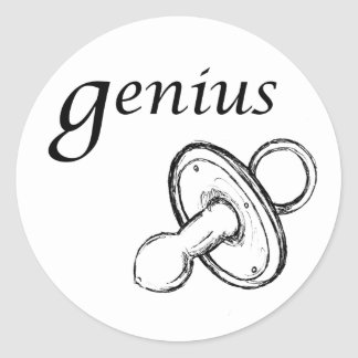 Genius Classic Round Sticker