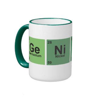 Genius Cup. Periodic table of elements. Taza De Dos Colores