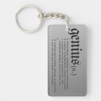 Genius definition keychain