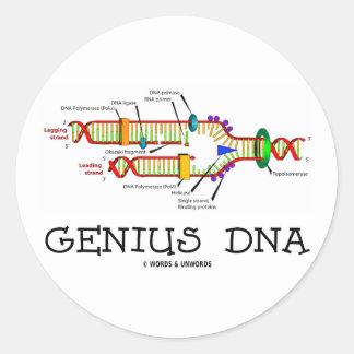 Genius DNA (DNA Replication Humor) Sticker