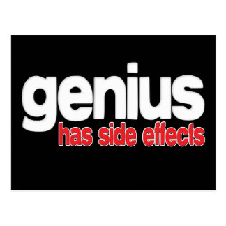 Genius Has Side Effects Postcard