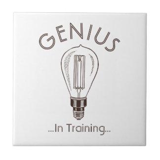 Genius In Training Antique Light Bulb Ceramic Tile