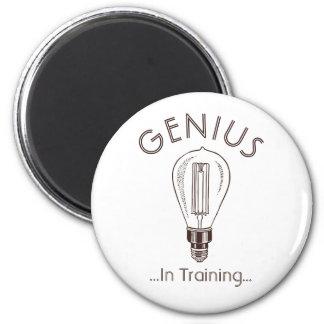 Genius In Training Antique Light Bulb 2 Inch Round Magnet