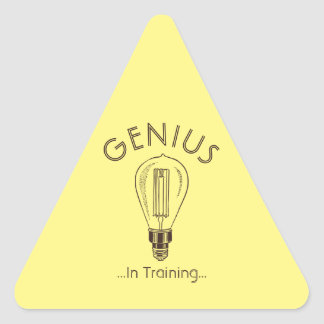 Genius In Training Antique Light Bulb Triangle Sticker