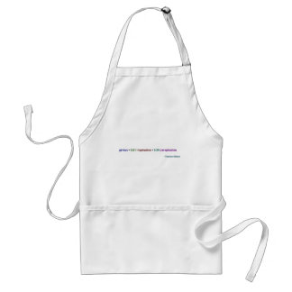 Genius is 1% inspiration and 99% perspiration adult apron