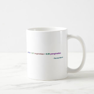 Genius is 1% inspiration and 99% perspiration coffee mugs