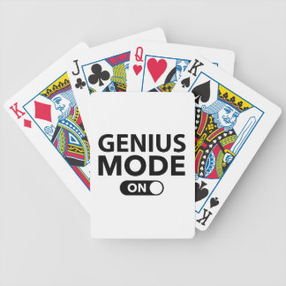 Genius Mode On Bicycle Playing Cards
