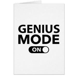 Genius Mode On Card