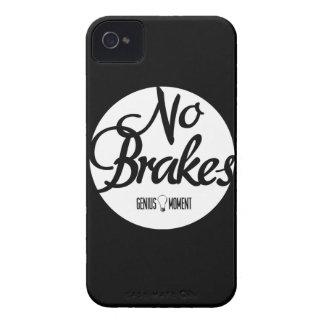 """Genius Moment """"No Brakes"""" iPhone 4 Case - Blk/Wht"""