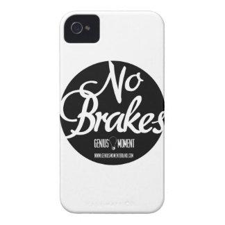"""Genius Moment """"No Brakes"""" iPhone 4 Case - Wht/Blk"""