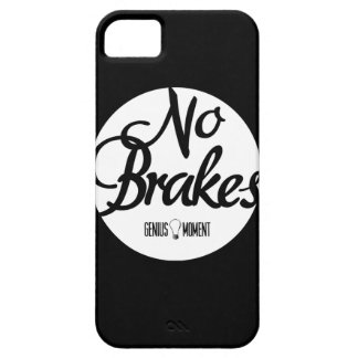 """Genius Moment """"No Brakes"""" iPhone 5 Case - Blk/Wht"""