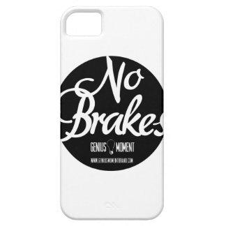 """Genius Moment """"No Brakes"""" iPhone 5 Case - Wht/Blk"""