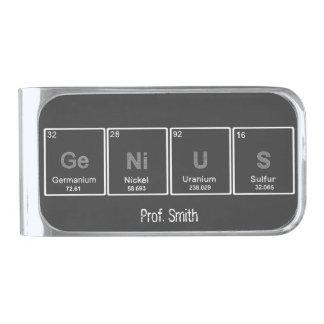 GeNiUS periodic table elements custom money clip