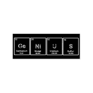 GeNiUS Periodic table elements stamp