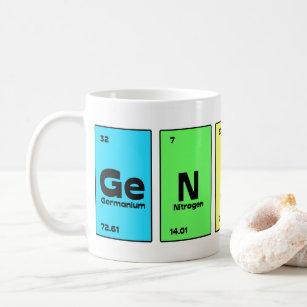Periodic table coffee travel mugs zazzle genius periodic table mug urtaz Images